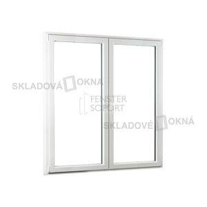 Dvojkrídlové plastové balkónové dvere PREMIUM - 1700 x 2080 mm, barva biela/zlatý dub