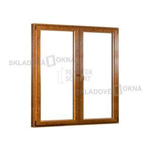 Dvojkrídlové plastové balkónové dvere PREMIUM - 1700 x 2080 mm, barva biela