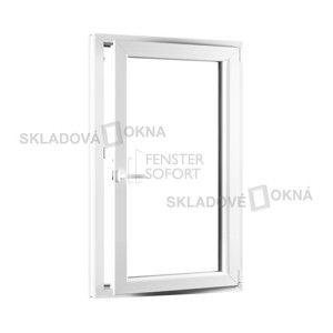 Jednokrídlové plastové okno PREMIUM, otváravo - sklopné pravé - 800 x 1400 mm, barva biela