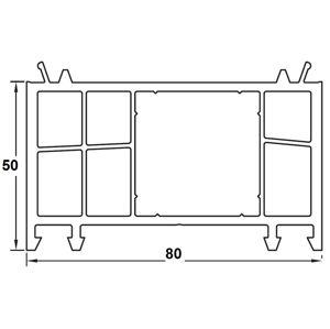 Rozširovací profil 50 mm Biela / Zlatý dub pre okná PREMIUM